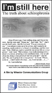 I'm Still Here: The Truth about Schizophrenia (VHS)
